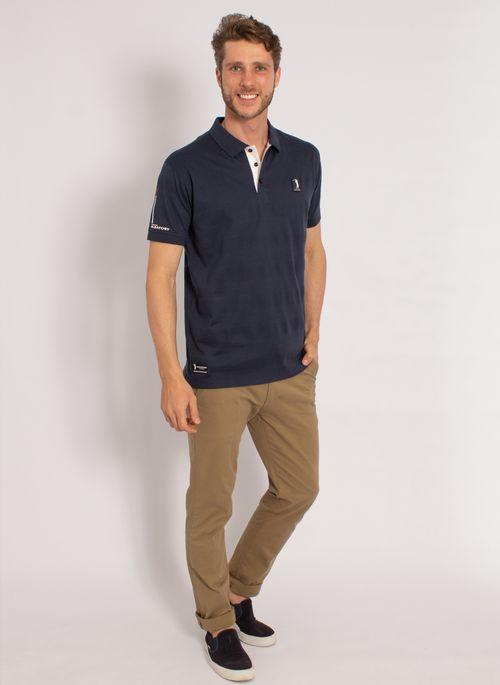 camisa-polo-aleatory-masculina-listrada-textura-azul-modelo-3-