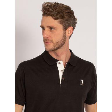 camisa-polo-aleatory-masculina-listrada-textura-preto-modelo-1-