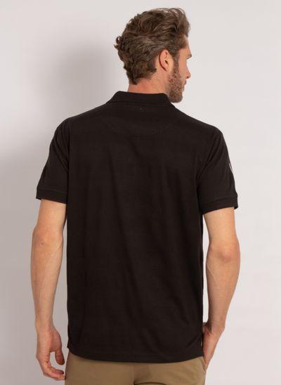 camisa-polo-aleatory-masculina-listrada-textura-preto-modelo-2-