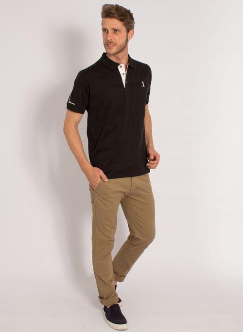 camisa-polo-aleatory-masculina-listrada-textura-preto-modelo-3-