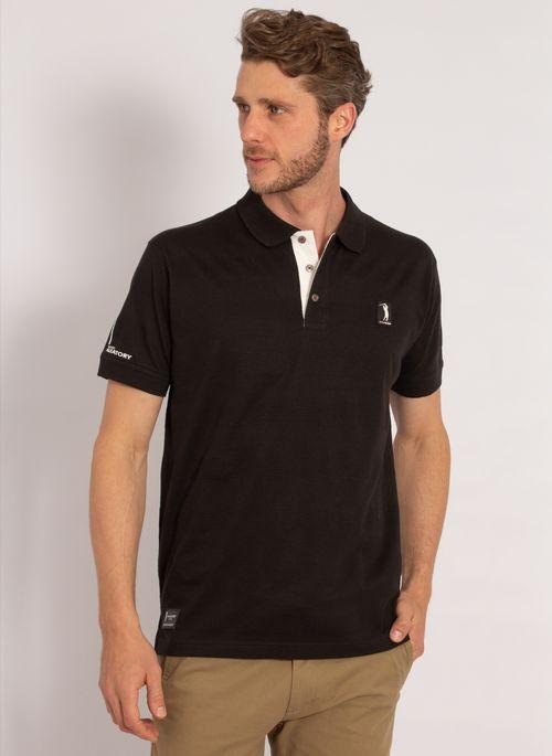 camisa-polo-aleatory-masculina-listrada-textura-preto-modelo-4-
