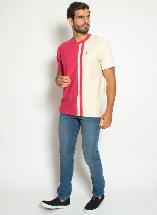 camiseta-aleatory-listrada-masculina-think-vermelho-modelo-3-