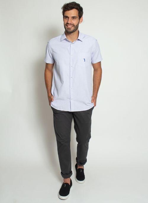 camisa-aleatory-masculina-manga-curta-xadrez-thin-azul-modelo-3-