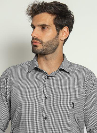 camisa-aleatory-masculina-xadrez-micro-preta-modelo-1-