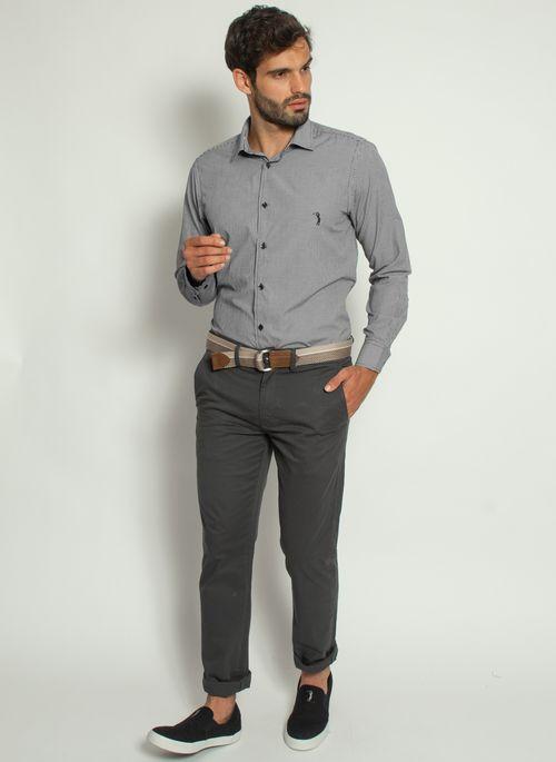 camisa-aleatory-masculina-xadrez-micro-preta-modelo-3-