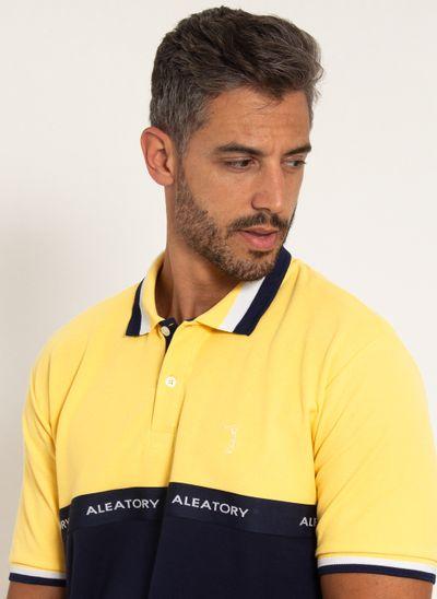 camisa-polo-aleatory-piquet-standing-amarelo-modelo-1-
