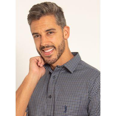 camisa-aleatory-masculina-manga-curta-xadrez-live-marinho-modelo-1-