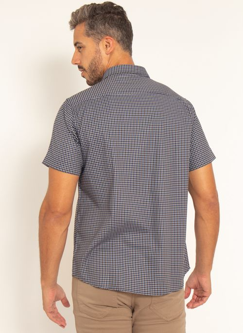 camisa-aleatory-masculina-manga-curta-xadrez-live-marinho-modelo-2-