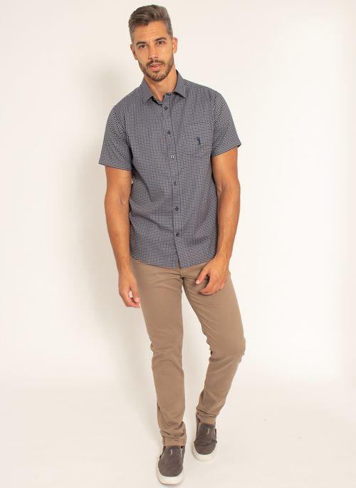 camisa-aleatory-masculina-manga-curta-xadrez-live-marinho-modelo-3-