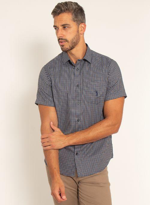 camisa-aleatory-masculina-manga-curta-xadrez-live-marinho-modelo-4-