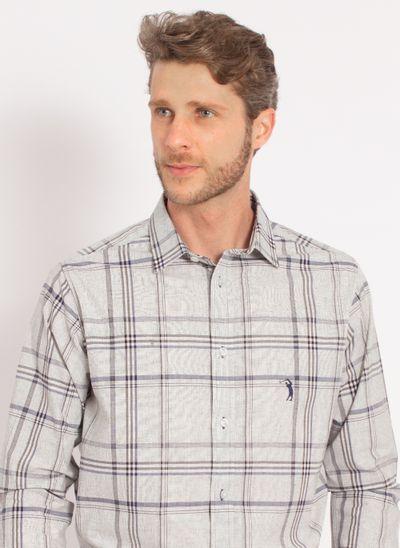 camisa-aleatory-masculina-xadrez-tech-strech-work-cinza-modelo-1-