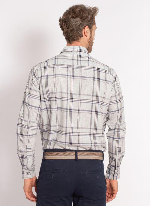 camisa-aleatory-masculina-xadrez-tech-strech-work-cinza-modelo-2-