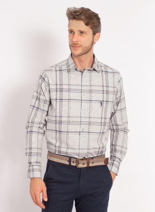 camisa-aleatory-masculina-xadrez-tech-strech-work-cinza-modelo-4-
