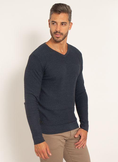 sueter-aleatory-masculino-texturizado-gola-v-one-marinho-modelo-2021-4-