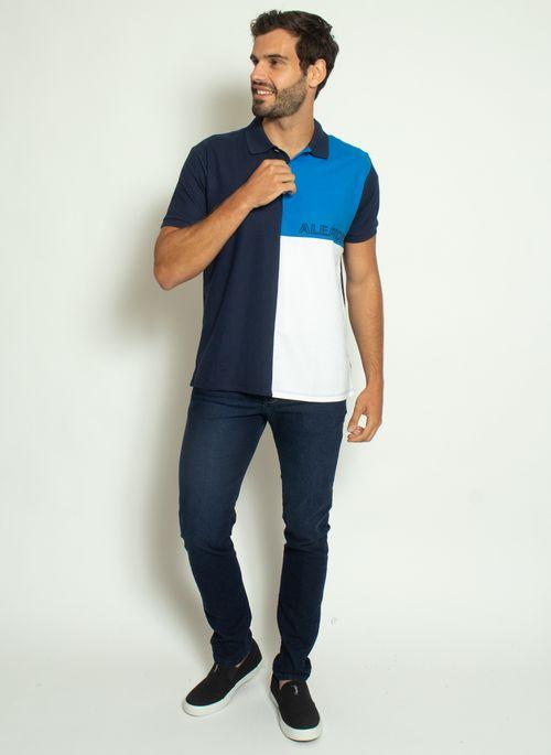 camisa-polo-aleatory-piquet-sundown-azul-modelo-3-