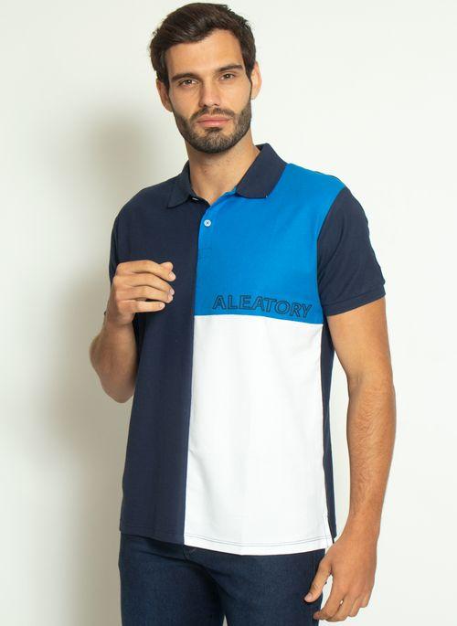camisa-polo-aleatory-piquet-sundown-azul-modelo-4-