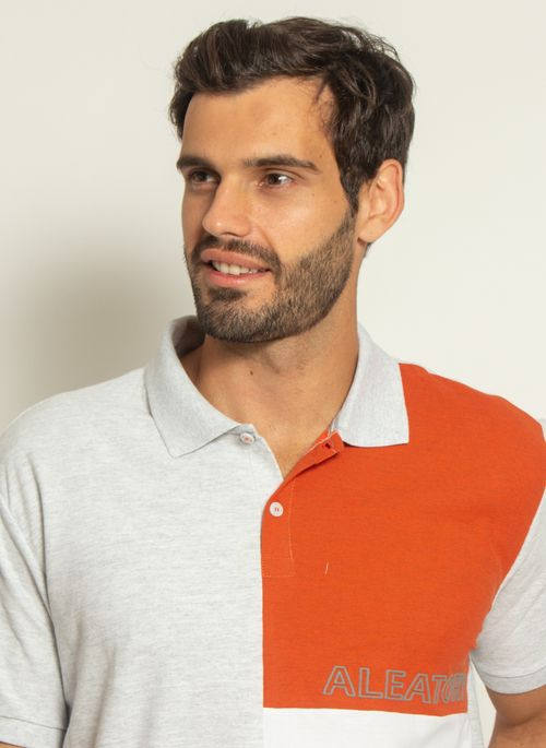 camisa-polo-aleatory-piquet-sundown-laranja-modelo-1-