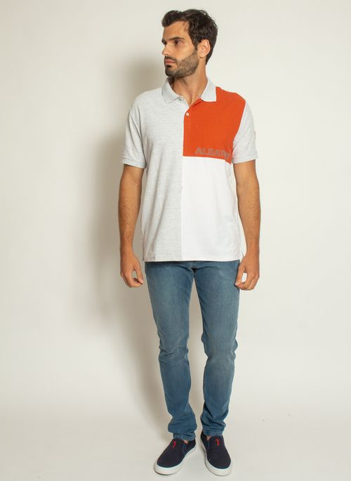camisa-polo-aleatory-piquet-sundown-laranja-modelo-3-