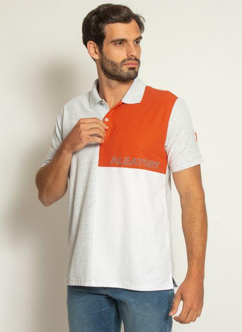 camisa-polo-aleatory-piquet-sundown-laranja-modelo-4-