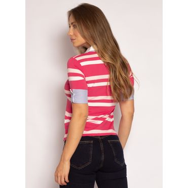 camisa-polo-aleatory-feminina-3-4-azalea-rosa-modelo-2021-2-