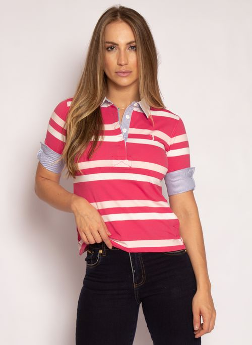 camisa-polo-aleatory-feminina-3-4-azalea-rosa-modelo-2021-3-