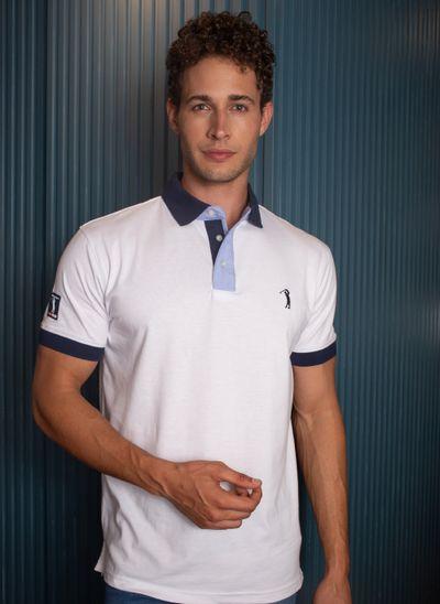 camisa-polo-aleatory-masculina-peitilho-contraste-lisa-branca-modelo-2-