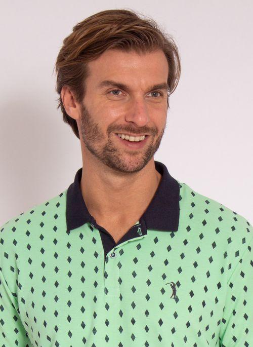 camisa-polo-aleatory-masculina-estampada-diamond-verde-modelo-1-