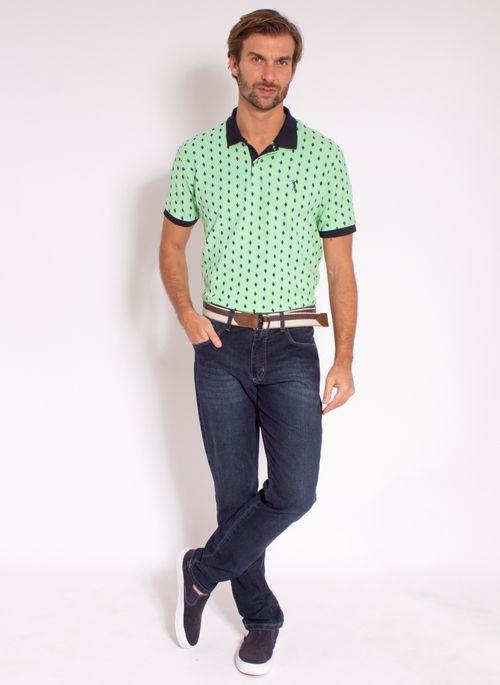 camisa-polo-aleatory-masculina-estampada-diamond-verde-modelo-3-