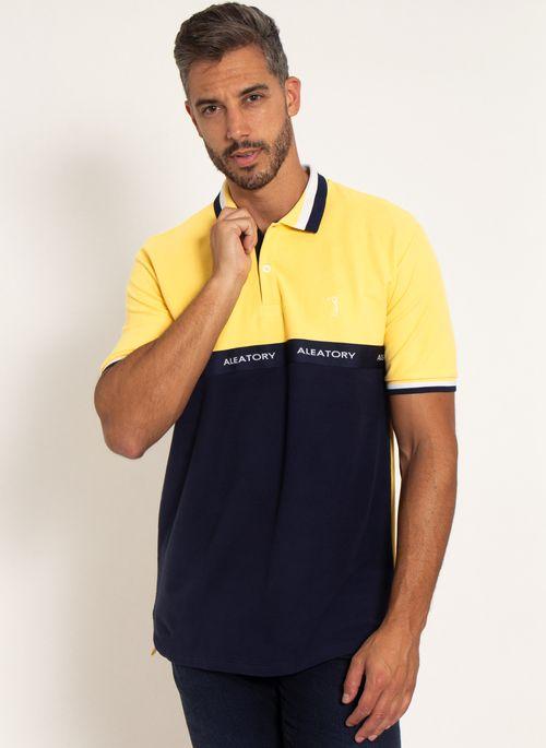 camisa-polo-aleatory-piquet-standing-amarelo-modelo-4-