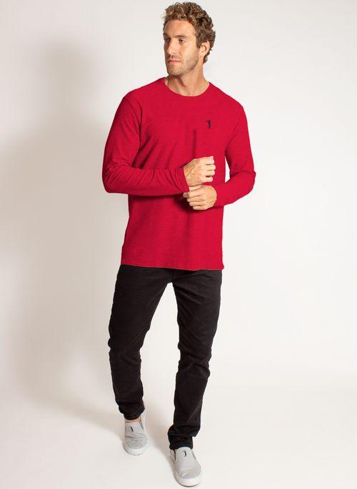 camiseta-aleatory-masculina-lisa-manga-longa-freedom-mescla-vermelha-modelo-3-