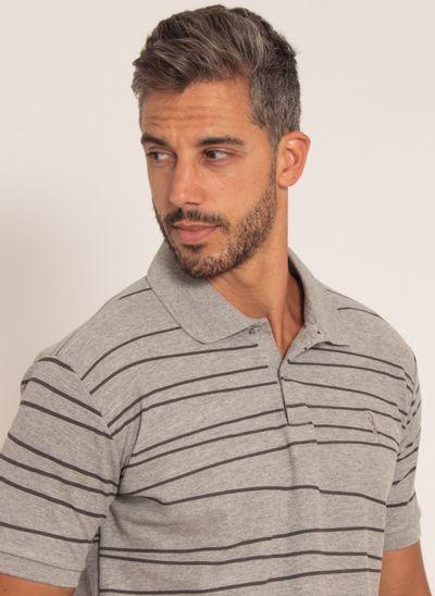 camisa-polo-aleatory-masculina-piquet-estampada-line-cinza-modelo-1-
