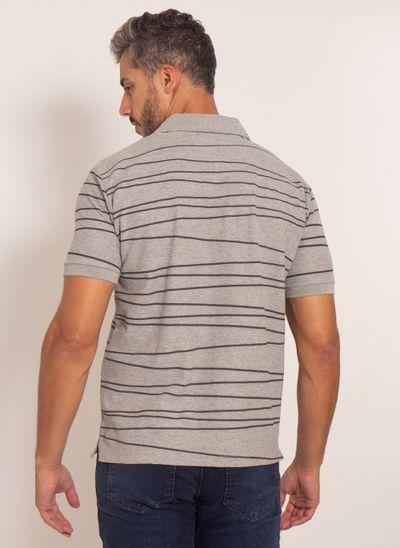 camisa-polo-aleatory-masculina-piquet-estampada-line-cinza-modelo-2-