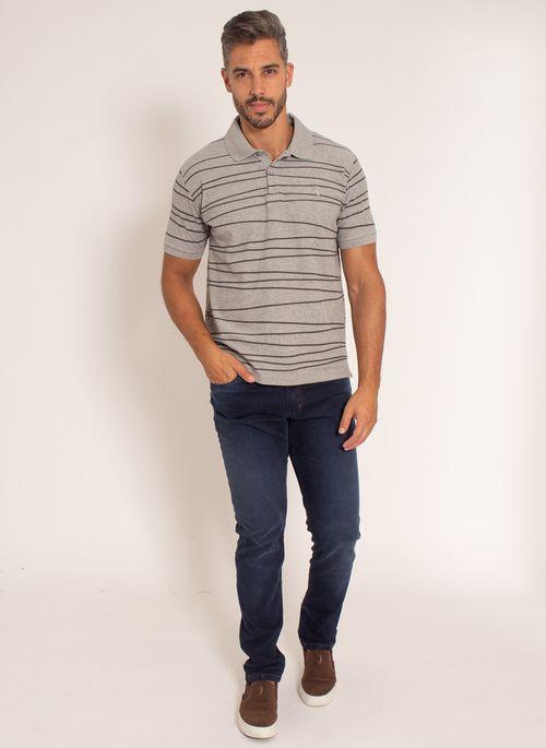 camisa-polo-aleatory-masculina-piquet-estampada-line-cinza-modelo-3-