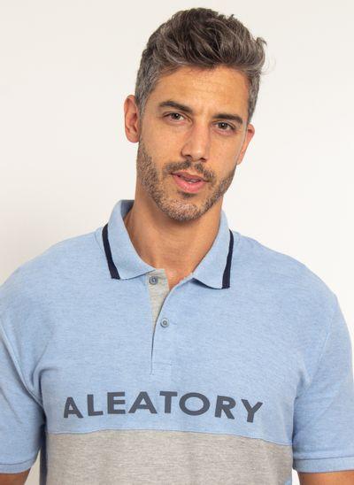 Camisa-Polo-Aleatory-Piquet-Recortada-Half-Azul-Azul-P