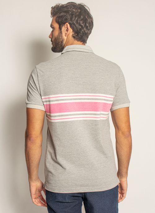 Camisa-Polo-Aleatory-Listrada-Piquet-Binado-Premium-Cinza-Cinza-P
