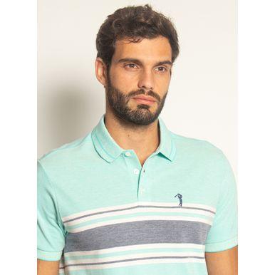 Camisa-Polo-Aleatory-Listrada-Piquet-Binado-Premium-Verde-Verde-P