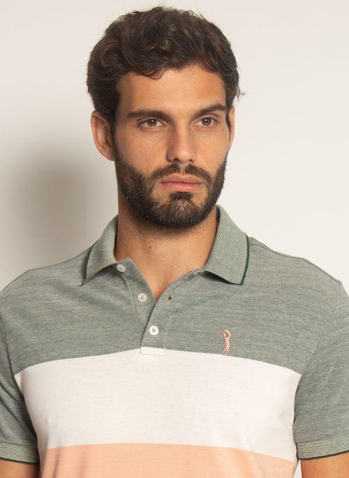 Camisa-Polo-Aleatory-Listrada-Piquet-Binado-Out-Salmao-Salmao-P