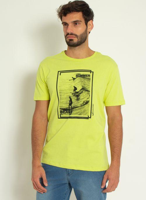Camiseta-Estampada-Aleatory-Summer-Amarela-Amarelo-P