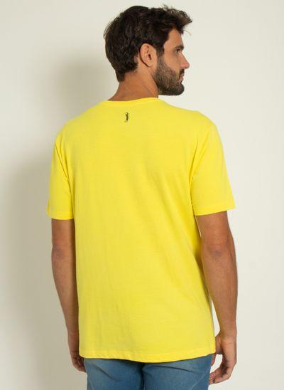 Camiseta-Estampada-Aleatory-Lines-Amarela-Amarelo-P
