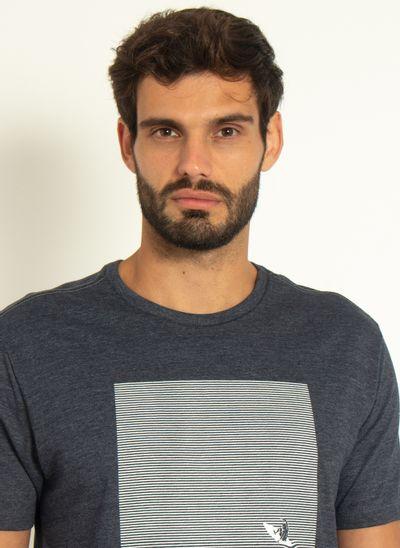 Camiseta-Estampada-Aleatory-Lines-Chumbo-Chumbo-P