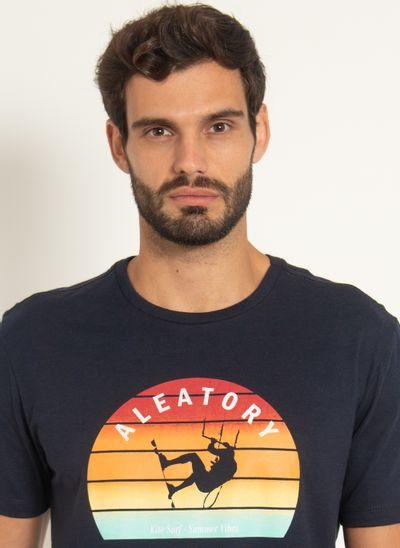 Camiseta-Estampada-Aleatory-Kite-Marinho-Azul-Marinho-P