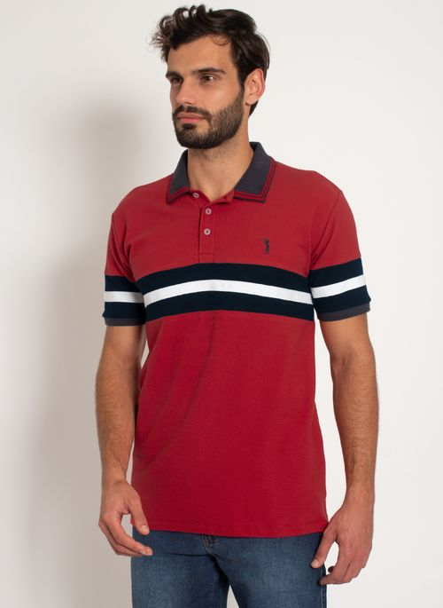 Camisa-Polo-Aleatory-Recortada-Piquet-Live-Vermelha-Vermelho-P