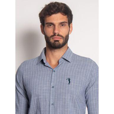Camisa-Aleatory-Manga-Longa-Voil-Flame-Azul-Azul-P
