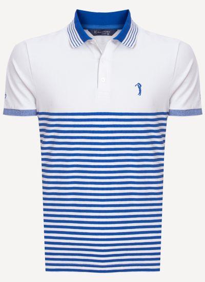 Camisa-Polo-Aleatory-Listrada-Sugar-Azul-Azul-M