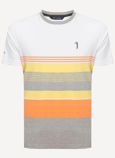 Camiseta-Aleatory-Listrada-Sound-Branca-Branco-M