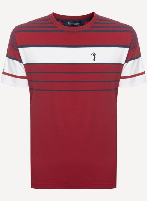 Camiseta-Aleatory-Listrada-Good-Vermelha-Vermelho-M