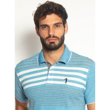 Camisa-Polo-Aleatory-Listrada-Piquet-Binado-Smooth-Azul-Azul-M