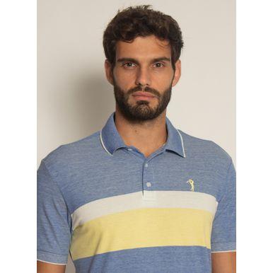 Camisa-Polo-Aleatory-Listrada-Piquet-Binado-Pulse-Azul-Azul-M