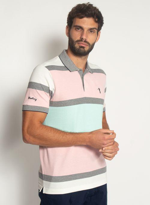 Camisa-Polo-Aleatory-Listrada-Piquet-Binado-Mask-Rosa-Rosa-M