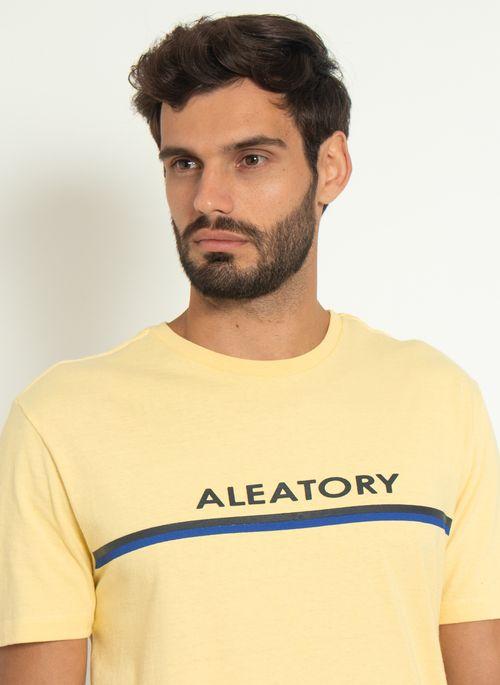 Camiseta-Aleatory-Estampada-Ribbon-Amarela-Amarelo-P